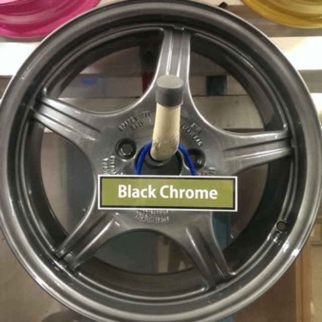 Powder coated in Black Chrome